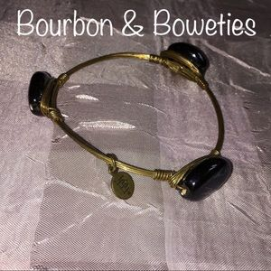 🖤Bourbon & Boweties🖤Black Stone Bangle🖤